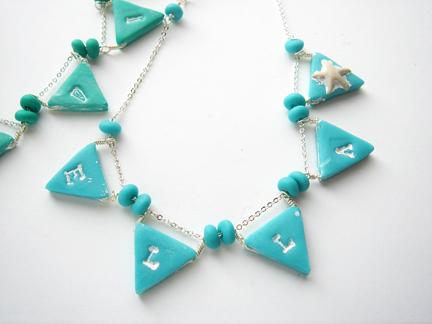 DIY Pennant Necklace (via mariesegal)