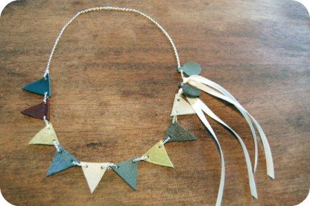 DIY Anthropologie-Inspired Vintage Pennant Necklace (via acaseofthemundays)
