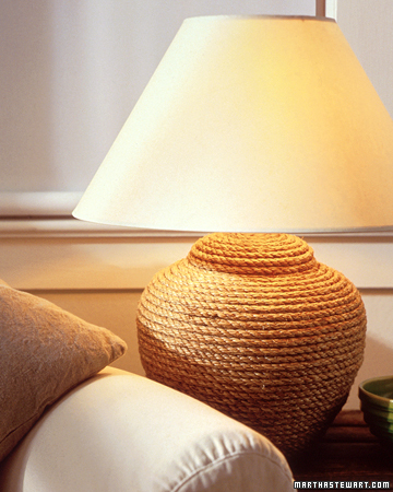 How To Make A Rope Lamp (via marthastewart)