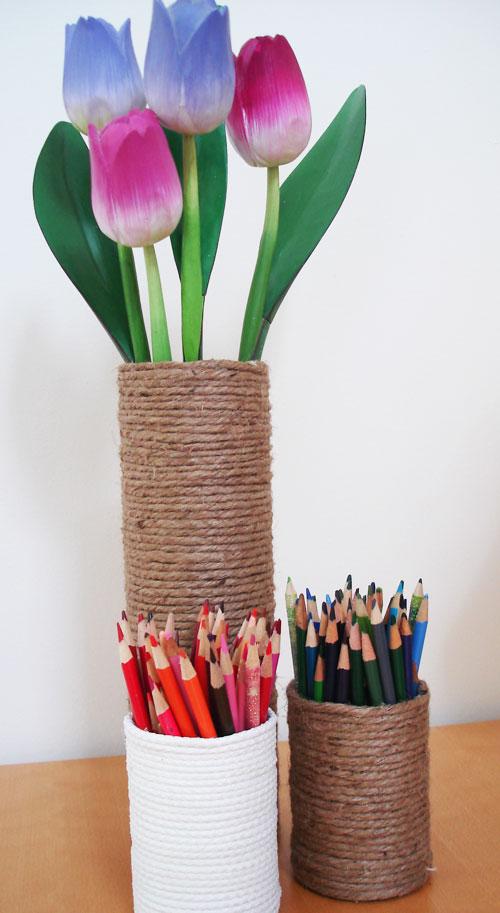 DIY Rope Vases (via creativeinchicago)