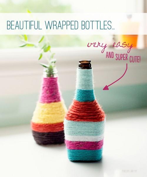 DIY Wrapped Vases (via penelopeandpip)