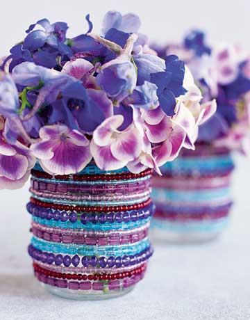 DIY Vases Of Jars And Bracelets (via countryliving)