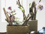 DIY Square IKEA Vases Wrapped In Rope