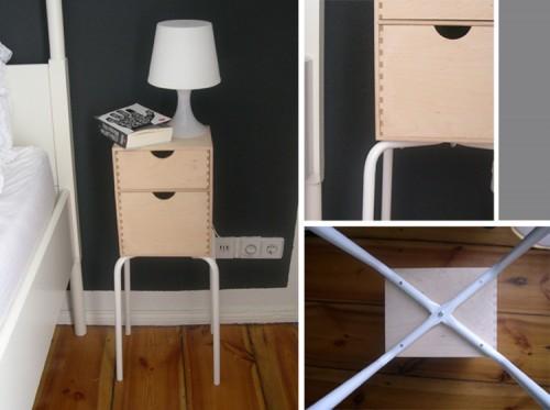DIY Marius Nighstand (via trespluscool)