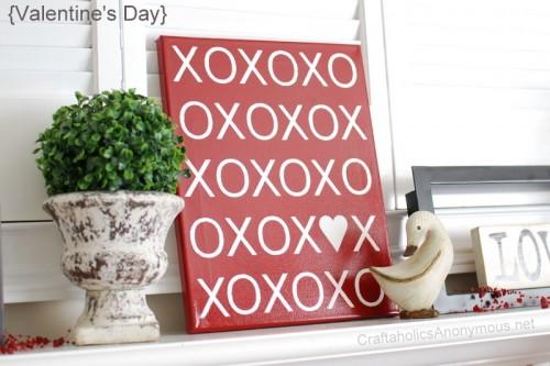 XOXO Canvas Tutorial (via craftaholicsanonymous)