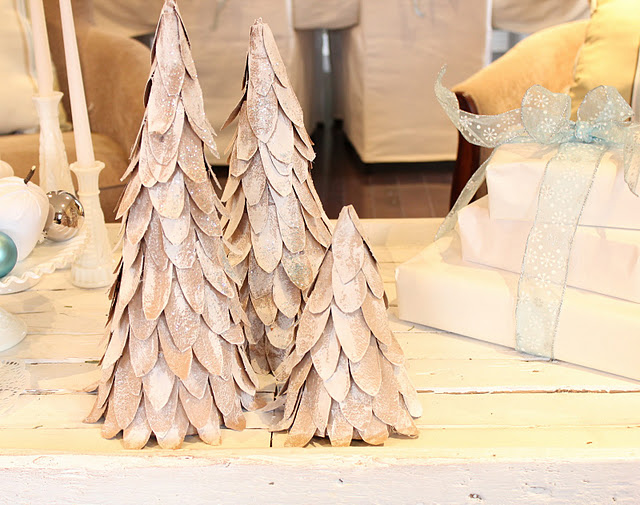 Cardboard Tabletop Christmas Trees Tutorial