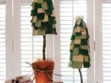 Cute DIY Cardboard Christmas Trees