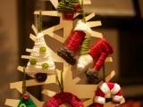 Handmade Cardboard Christmas Tree Ornaments