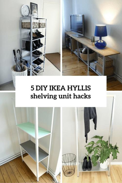 How To Hack IKEA Hyllis Shelving Unit: 5 DIY Ideas