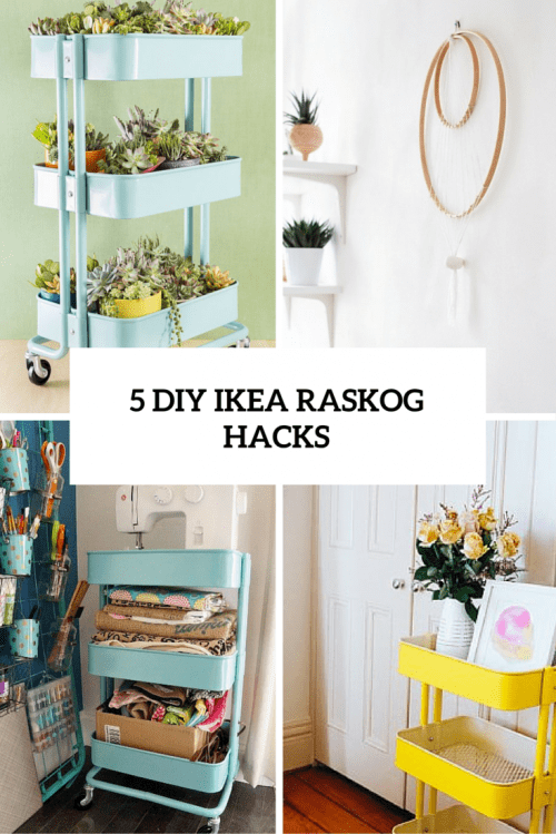 5 cool and easy diy ikea raskog cart hacks shelterness. Black Bedroom Furniture Sets. Home Design Ideas