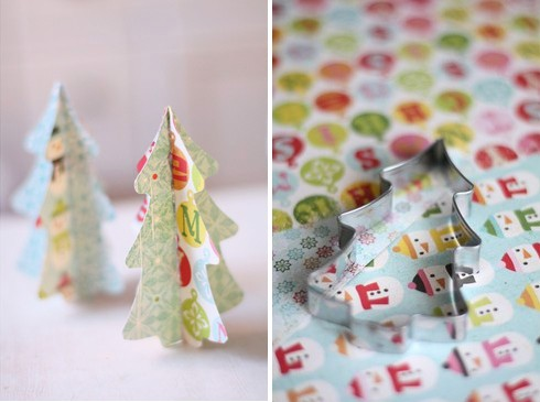 Small and Colorful DIY Christmas Trees (via ellasinspiration)