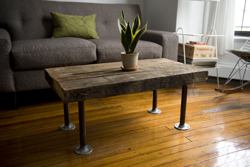 Handmade Reclaimed Coffee Table (via darlingdexter) - 10 DIY Reclaimed Coffee Tables That Inspire - Shelterness