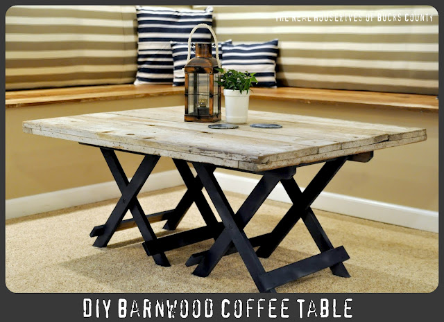 Picture of cool diy reclaimed barn wood coffee table for Cool coffee tables diy