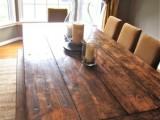 DIY Farmhouse-Style Reclaimed Dining Table