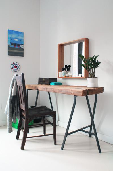 DIY Home Office Reclaimed Desk