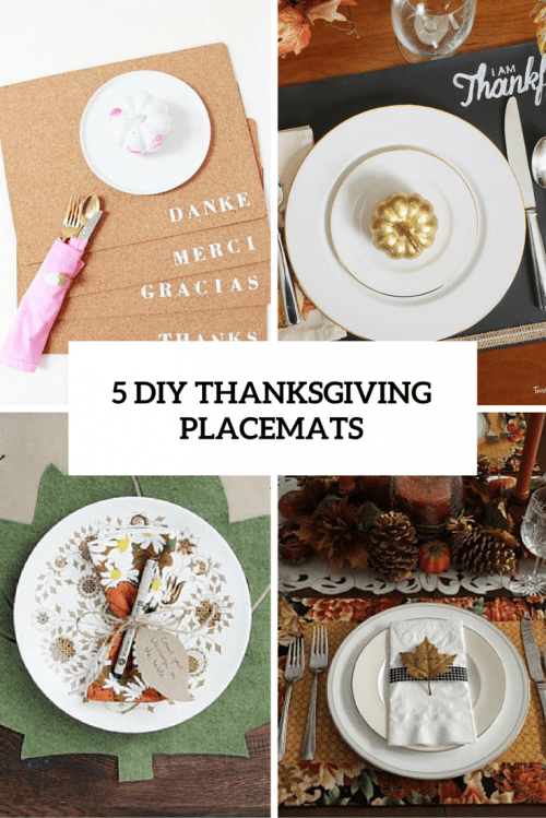 5 DIY Thanksgivng Placemats For A Perfect Table Setting