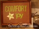 Comfort Joy DIY Holiday Sign