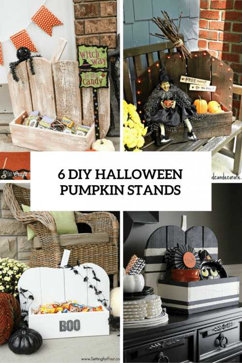 6 DIY HALLOWEEN PUMPKIN STANDS OVER
