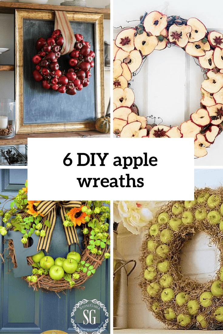 6 diy apple wreaths cover
