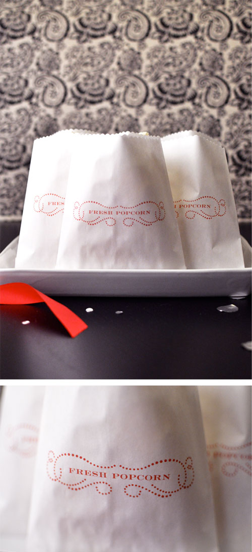 DIY Popcorn Bags For The Oscar Party (via twigandthistle)