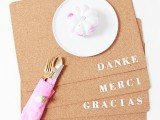 'Thank you' placemats