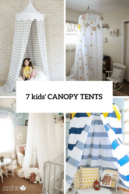 7 Easy And Cool DIY Kidsu0027 Canopy Tents For Indoors & 7 Easy And Cool DIY Kidsu0027 Canopy Tents For Indoors - Shelterness