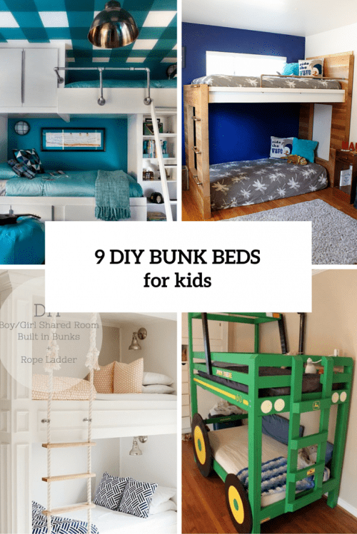 9 Functional And Creative DIY Bunk Beds For Kids
