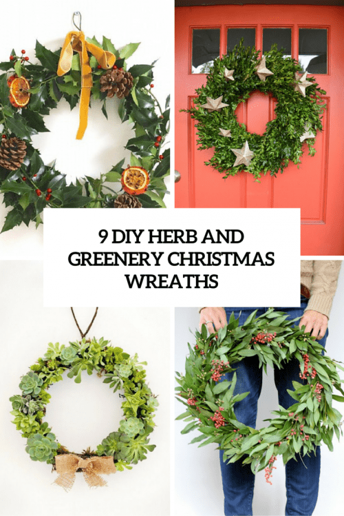9 diy herb and greenery christmas wreaths cover