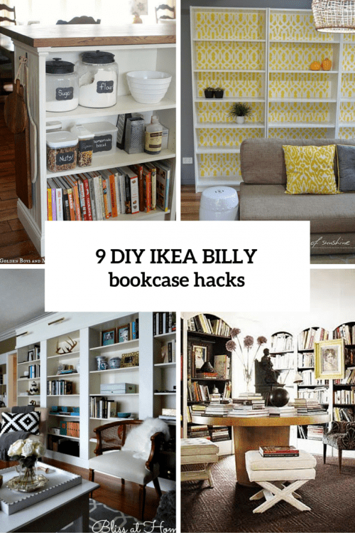 17 diy hacks for ikea billy bookcase you should try shelterness. Black Bedroom Furniture Sets. Home Design Ideas
