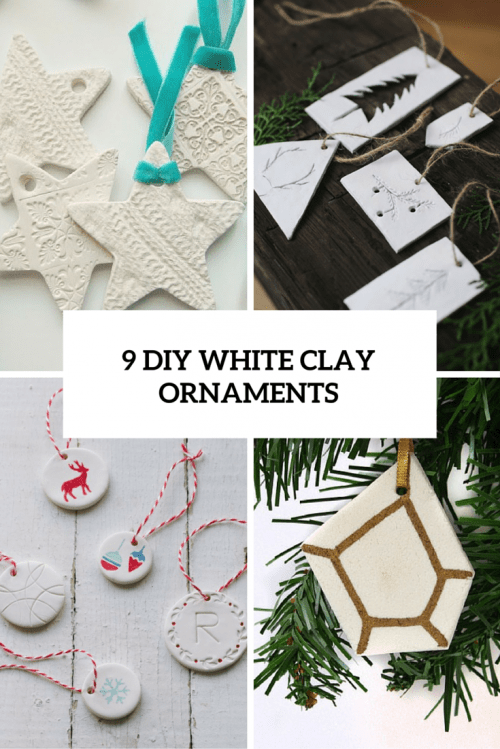 9 DIY White Clay Christmas Ornaments To Try