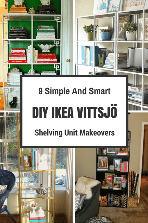 9 Simple And Smart DIY IKEA VITTSJÖ Shelving Unit Makeovers