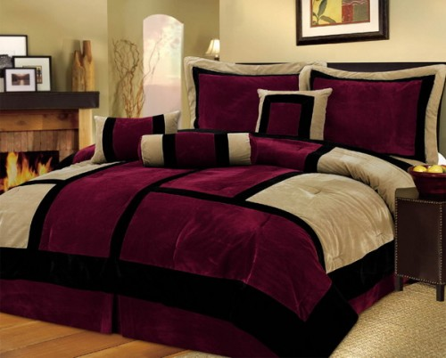 Photos Bild Galeria BEDROOM DECORATING IDEAS BURGUNDY