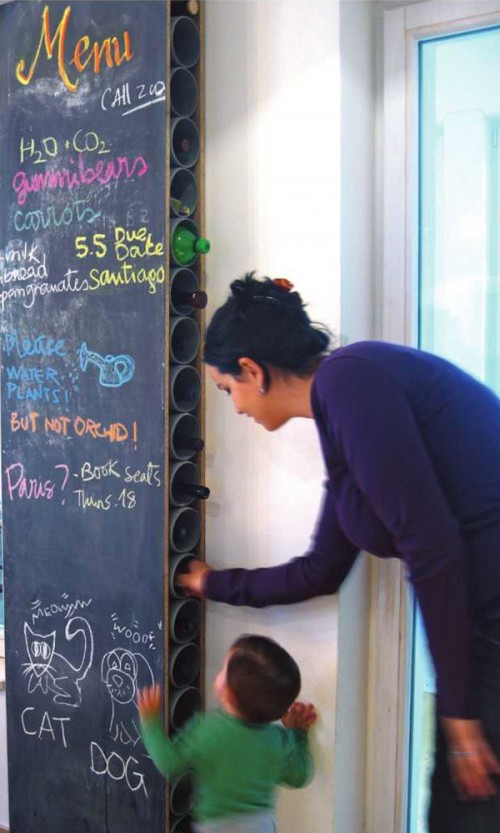 Chalkboard Wine Rack