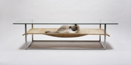 Coffee Table With Integrated Cat Hammock (via)