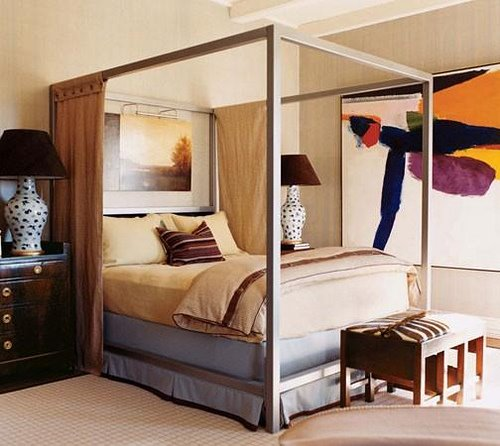 Curtained Beds