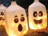 DIY Glowing Milk Jug Ghosts