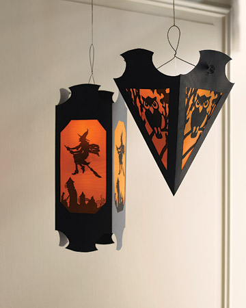 diy hanging vellum halloween lanterns - How To Make Halloween Lanterns