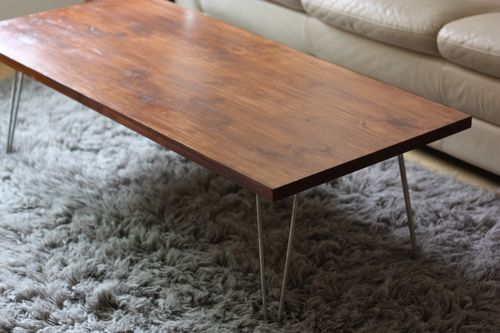DIY Mid Century Modern Coffee Table - DIY Mid-Century Modern Coffee Table - Shelterness