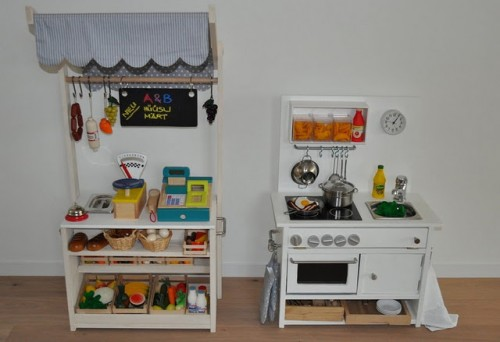 DIY Play Kitchen And Market Stall (via ikeahackers)