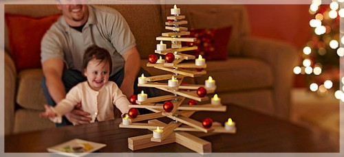 5 DIY Wooden Tabletop Christmas Trees