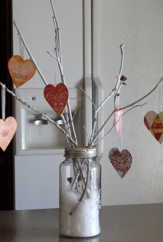 DIY Valentine Tree Centerpiece