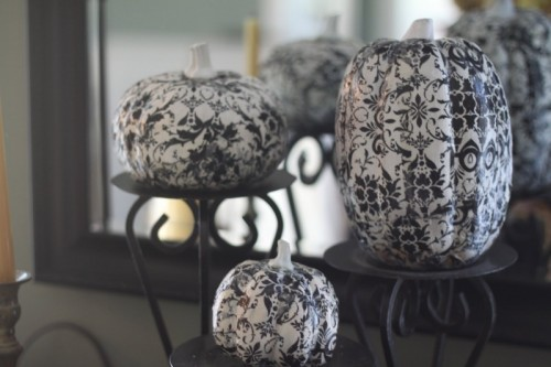 DIY Mod Podge Halloween Pumpkins