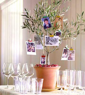 Family Tree Thanksgiving Centerpiece