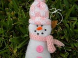 Glove Turned Snowman Ornament