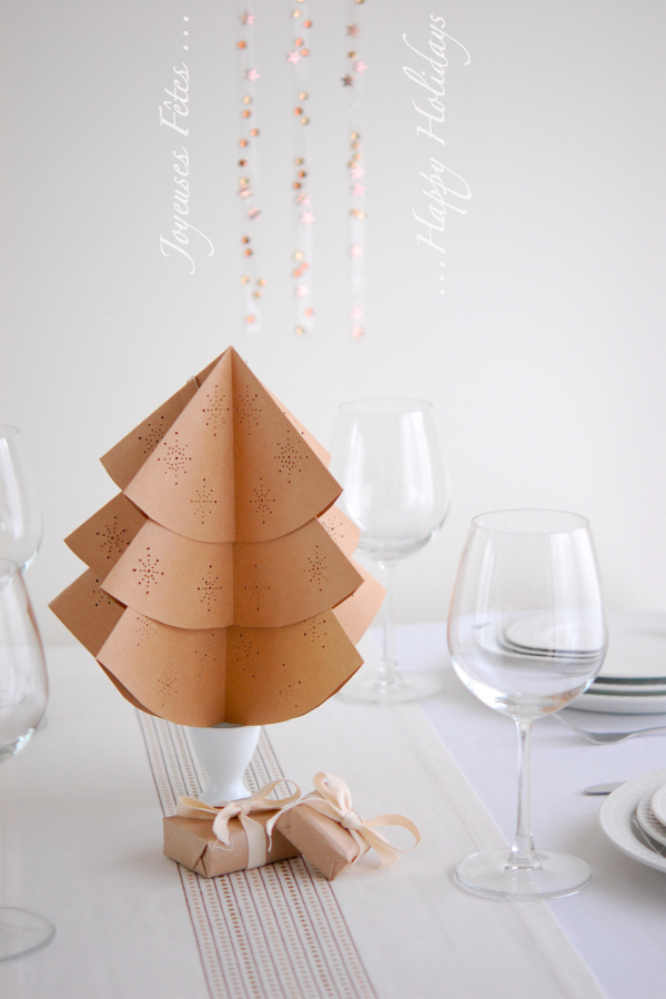 10 DIY Paper Tabletop Christmas Trees