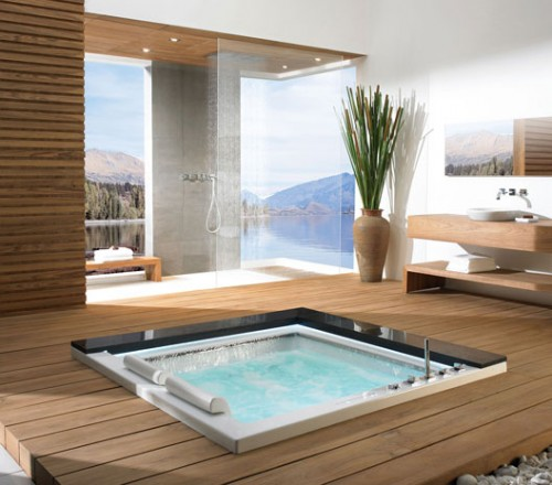 Traditional Japanese Bathroom: 10 Gorgeous In-Floor Bathtubs