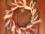 Indian Corn Thanksgiving Wreath