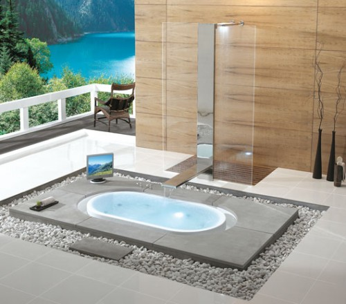 10 Gorgeous In-Floor Bathtubs