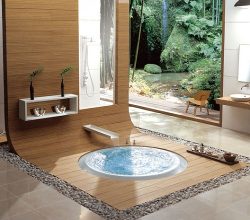 Gentil Oriental In Floor Bathtub