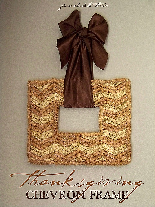 Thanksgiving Chevron Wheat Frame
